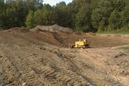 pond contstruction site