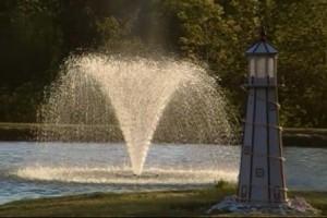 fountain, lighthouse