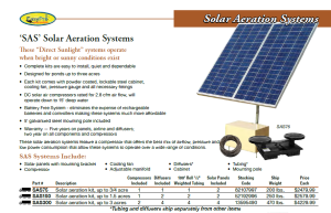 SAS Solar Aeration Systems