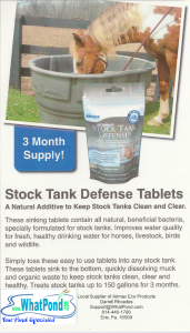 Clean water tanks