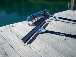 aquatic weed cutter and rake