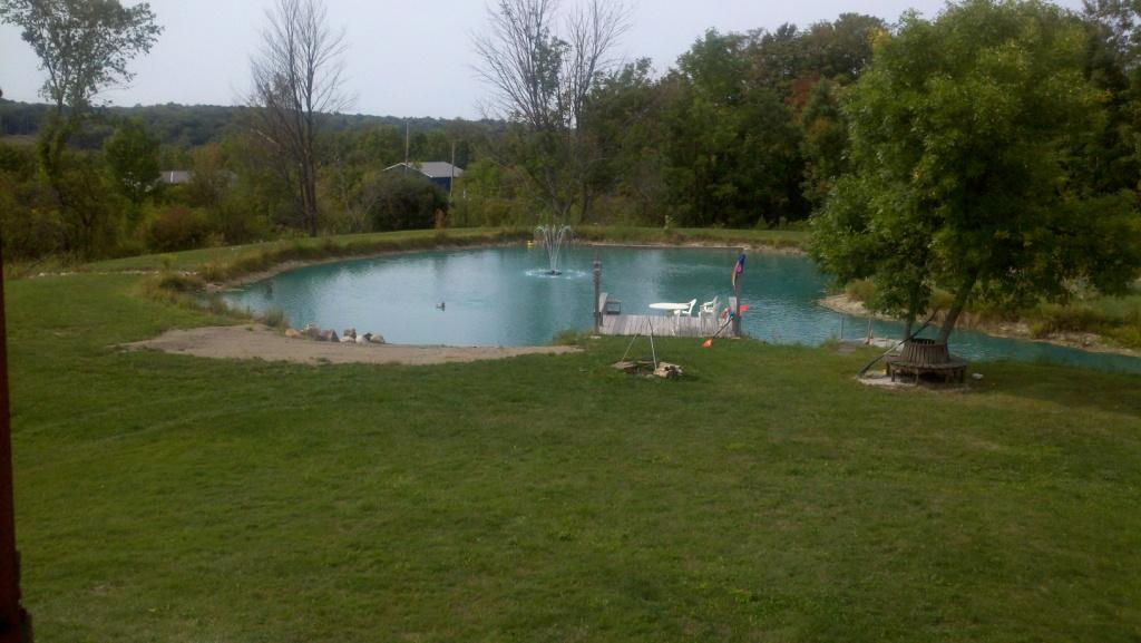 Labor day and the fair for Farm pond maintenance