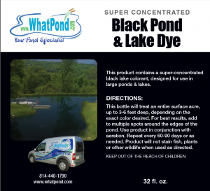 Black Super Concentrated Pond and Lake Dye