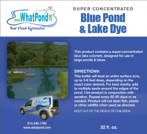 Blue Super Concentrated Pond and Lake Dye