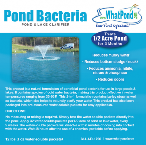 Half Acre Pond and Lake Clarifier 12 pound 1 ounce packets