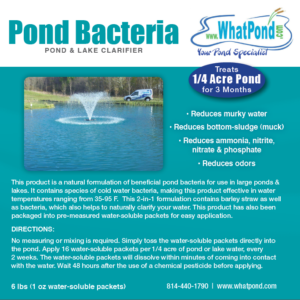 Quarter Acre Pond and Lake Clarifier 6 pound 1 ounce packets