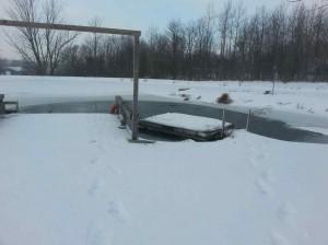 deicng a pond