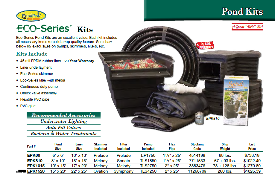 ECO Series Pond Kits