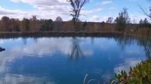aeration boil in pond
